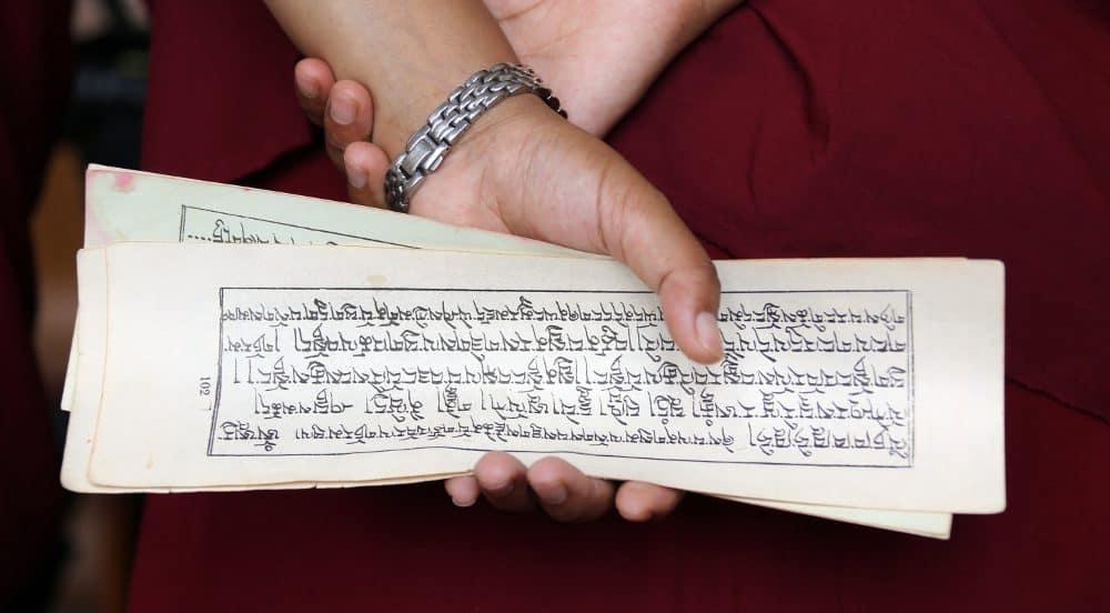 Indienreise 2012 Buddhistische Texte