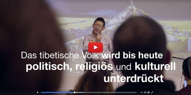 Video Zeigt Flagge für Tibet (c)TID