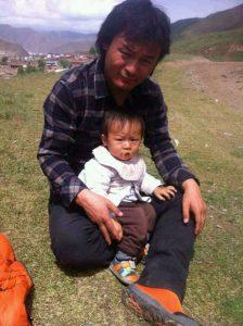 Shokjang mit seinem Sohn