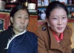 Zwei tibetische Frauen (Dolkar Lhamo und Nhyima Lhamo) sind zu sehen