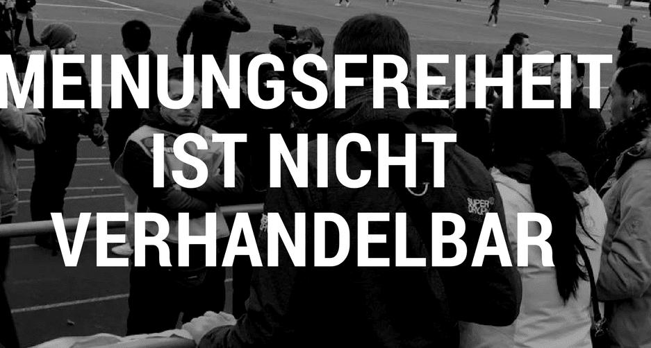 Meinungsfreiheit ist nicht verhandelbar - Fußballeklat in Mainz