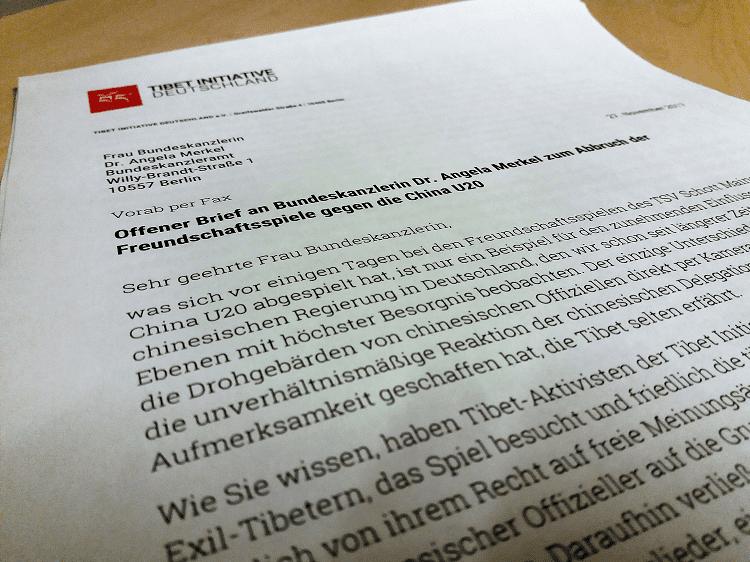 Offener Brief Der Tibet Initiative Deutschland Ev An