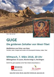 """Hechingen: Vortrag """"GUGE - Die goldenen Zeitalter von West-Tibet"""" @ Bildungshaus St.Luzen, Saal,"""