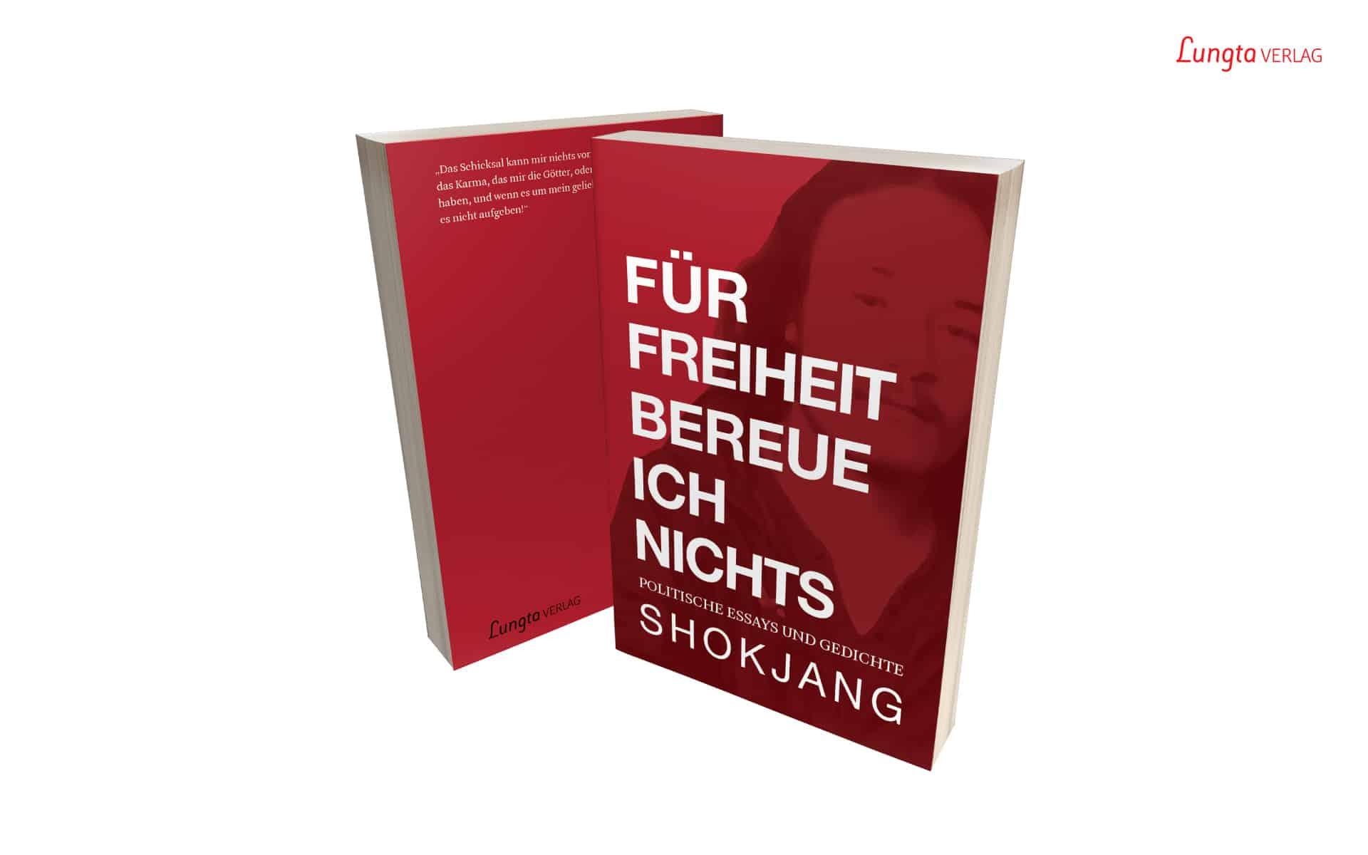 """Shokjang Buch-Banner """"Für Freiheit bereue ich nichts"""""""