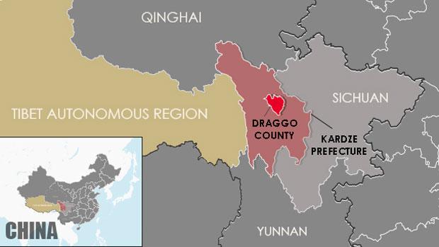 Auf der Karte ist die region Draggo in Karze eingezeichnet