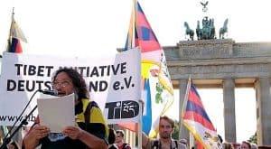 Kundgebung am Brandenburger Tor für Tibet, Berlin 2008