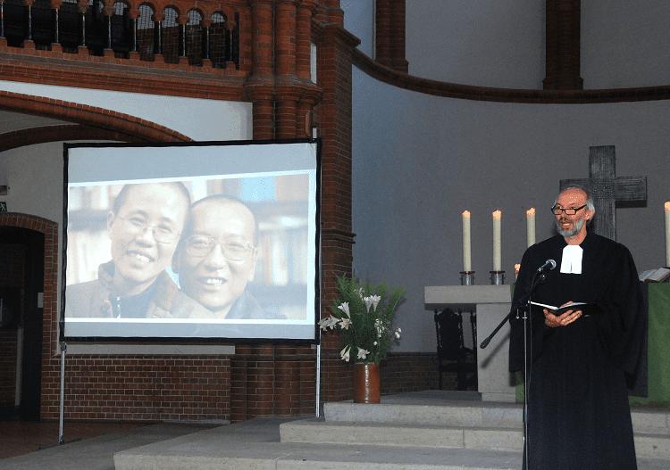 Gedenkfeier für den verstorbenen chinesischen Dissidenten und Friedensnobelpreisträger Liu Xiaobo (c) Michael Leh
