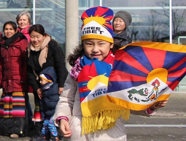 Flagge zeigen für Tibet 2018_TID Kreis Gütersloh