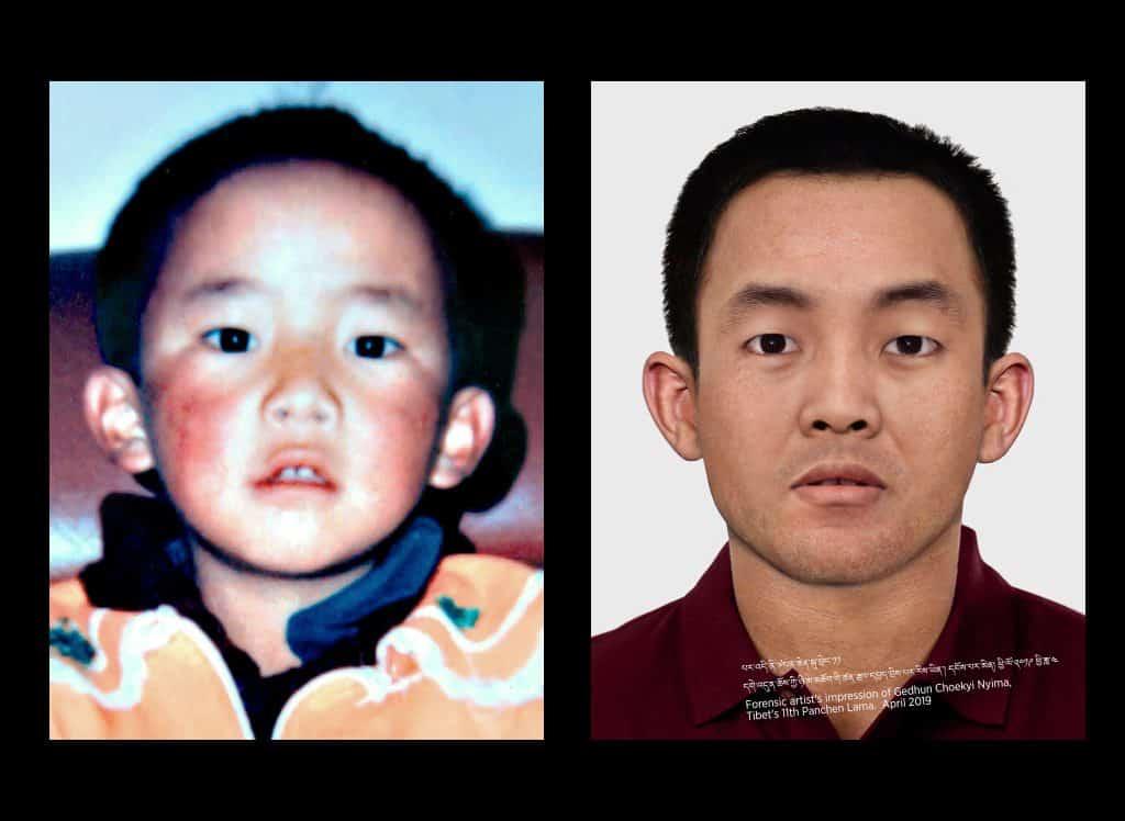 Panchen Lama im Alter von 6 Jahren und 30 Jahren