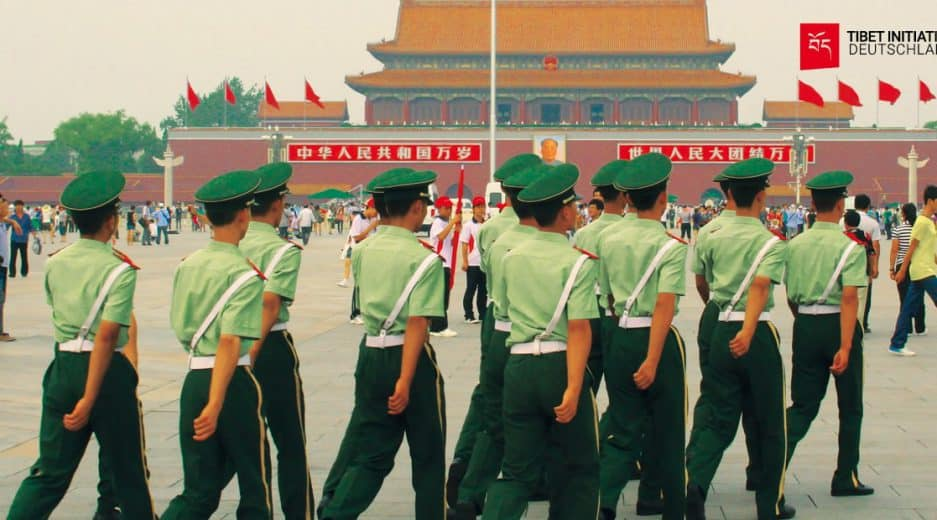 Soldaten auf dem Tiananmen Platz