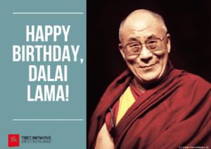 Dalai Lama 85. Geburtstag - Kundgebung in Berlin vom Verein der Tibeter Deutschland @ Vor dem Reichstag