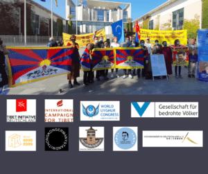"""Global Day of Action - Protest vor chinesischer Botschaft Berlin """"Resist China -Freedom now!"""" @ Chinesische Botschaft"""
