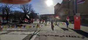 Tibet-Mahnwache in Stuttgart @ Innenstadt zwischen Altem Schloß und Karlsplatz